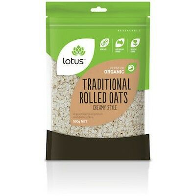 Lotus Oats Traditional Rolled Creamy Style Organic 500g