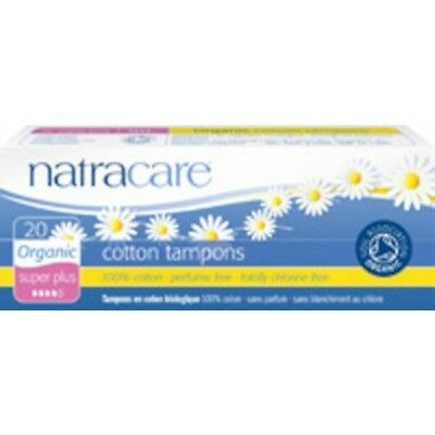 Natracare Tampons Super Plus Organic 20's - SHIPS TODAY!