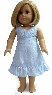 c75edc1f430 LIGHT BLUE EYELET Dress made for 18 inch American Girl Doll Clothes ...