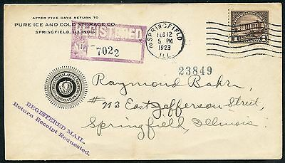 #571 Fdc - Feb 12,1923 Springfield, Ill. (Only 17 Known) - Rare Cv $7,500 Wlm926