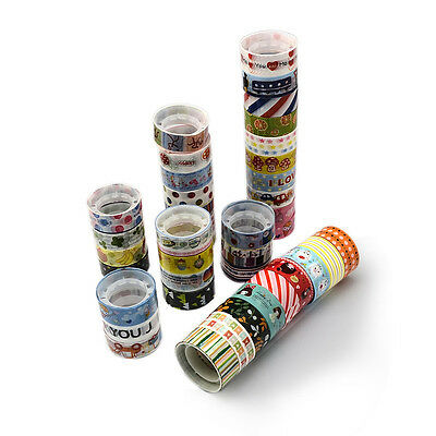 5 Craft Washi Tape 15mm x 2.5m Decorative Scrapbooking Self Adhesive (BOX136)
