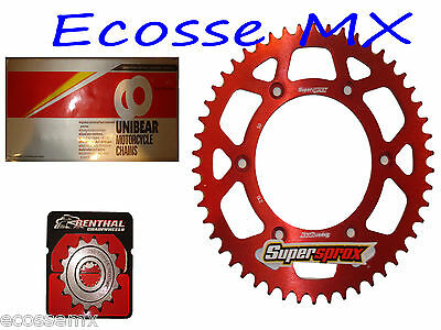 HONDA CR125 Gold Heavy Duty Chain and Supersprox Red Sprocket Kit