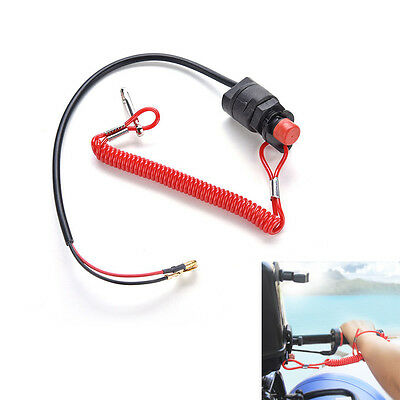 1*Motor Boat Outboard General Kill Stop Engine Switch Safety Tether Lanyard New
