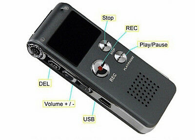 EVP Digital Recorder For ghost Hunting, 8GB, Rechargeable, 650 Hours Recording