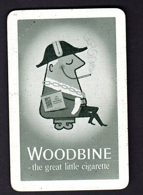 Vintage Swap/Playing Card - Advertisement - Woodbine Cigarettes (LINEN)