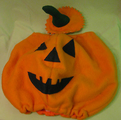 Vintage Childrens Halloween Pumpkin Costume