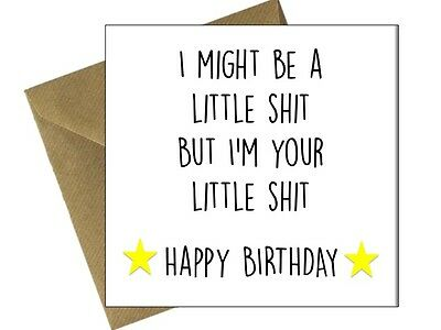 HAPPY BIRTHDAY GREETINGS CARD ADULT MUM DAD NAN GRANDAD Comedy Funny Humour /DQ