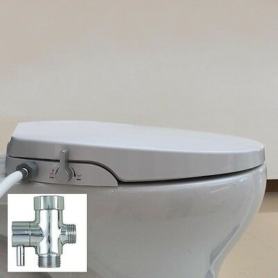 Hibbent Non Electric Bidet Toilet Seats with Cover - Elongated Style(OB106)