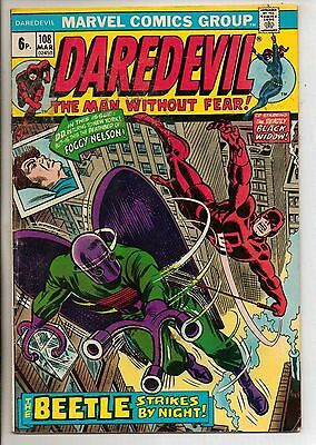 Marvel Comics Daredevil #108 March 1974 Black Widow F