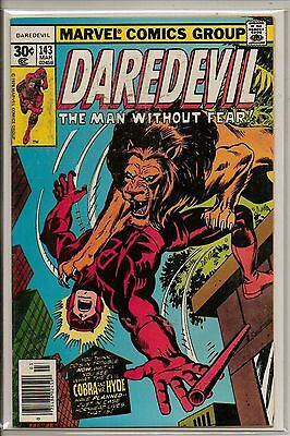 Marvel Comics Daredevil #143 March 1977 VF+