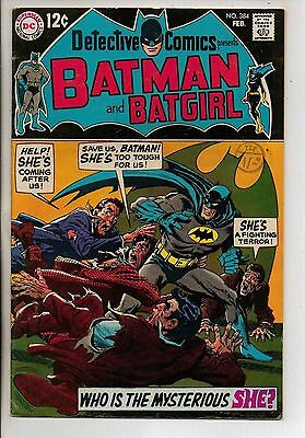 DC Comics Batman In Detective #384 February 1969 Batgirl VF