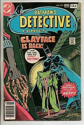 DC Comics Batman In Detective #478 August 1978 Marshall Rogers 1st Clayface 3 F+