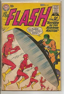 DC Comics Flash #109 November 1959 2nd Mirror Master F