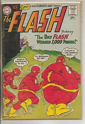 DC Comics Flash #115 September 1960 Classic Cover VG
