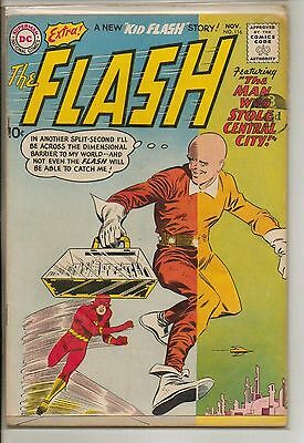 DC Comics Flash #116 November 1960 Kid Flash Backup F+