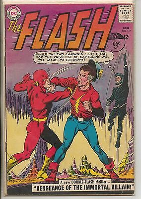 DC Comics Flash #137 June 1963 Golden Age Flash F