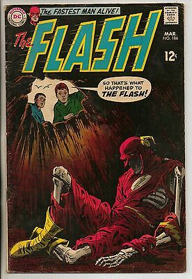 DC Comics Flash #186 March 1968 Re-Introducing Sargon The Sorcerer F