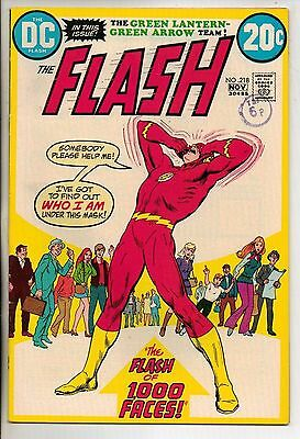 DC Comics Flash #218 November 1972 Neal Adams Green Lantern Green Arrow VF