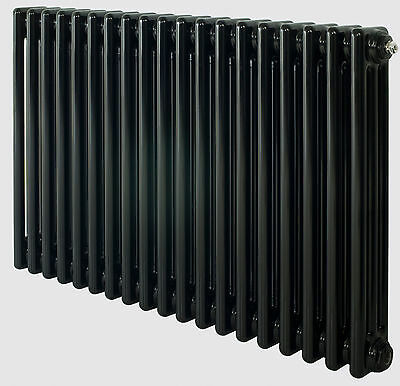 Jet Black Column Radiators Traditional Cast Iron Style Radiator Range 3 Columns