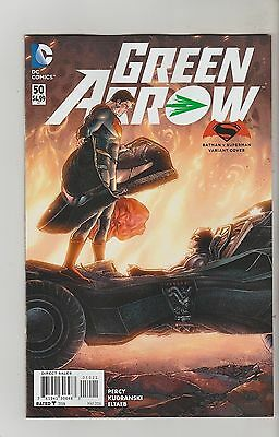 Dc Comics Green Arrow #50 May 2016 Batman V Superman Variant 1St Print Nm