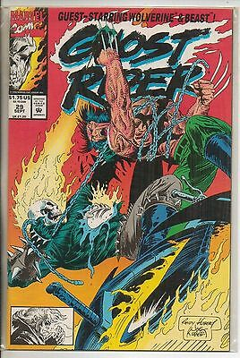 Marvel Comics Ghost Rider Vol 2 #29 September 1992 Wolverine NM