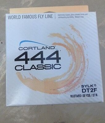 Cortland 444 Classic DT2F Fly Line Mustard 401129 Fly Fishing FREE SHIPPING