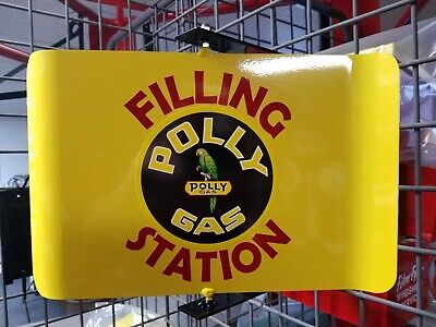 Polly Gas 50S Era Spinning Wall Mount Advertising Sign