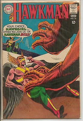 DC Comics Hawkman Vol 1 #24 March 1968 F+