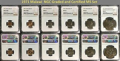1971 Malawi Decimal Currency Mint Set NGC Graded - Only 1 Such Set Exists!!!!