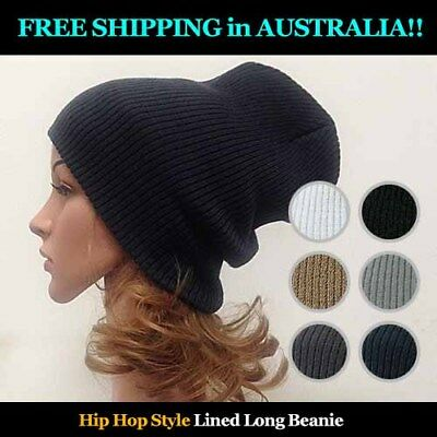 Allergy Free Ripped  Acrylic Long Beanie -FREE SHIPPING AU WIDE