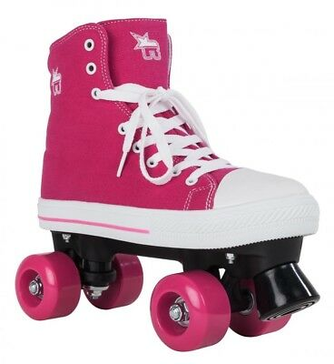 Rookie Toile Junior/Taille Adulte Patins Rollers Quad - Rose