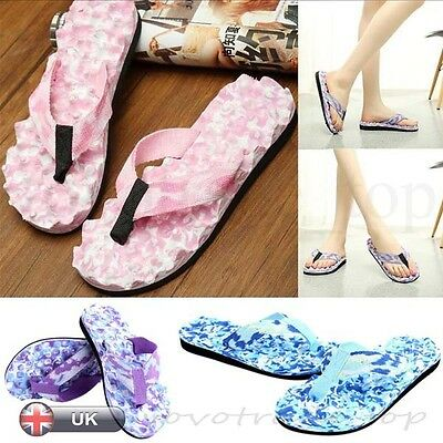 US Summer Women Ladies Beach Flip Flops Flat Slippers Massage Sandals Shoes New