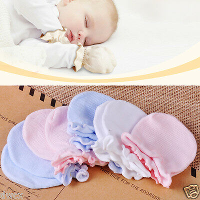 5pcs Newborn Boy Girl Soft Cotton Infant Handguard Anti Scratch Mittens Gloves