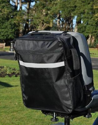 Black Standard Universal Mobility Scooter Backrest Bag Sack Disability Aid