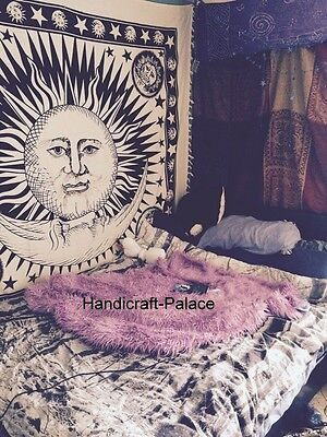 Hippie Sun and Moon Tapestry Throw Indian Wall Hanging Bedcover Ethnic Decor Art