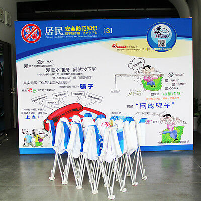 10ft Tension Fabric Pop Up Stand Trade Show Display Booth With Custom Graphic