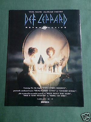 Def Leppard - Magazine Clipping / Cutting- 1 Page Advert