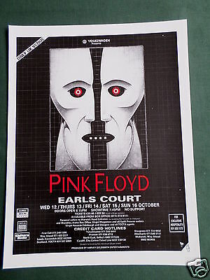 Pink Floyd - Magazine Clipping / Cutting- 1 Page Advert