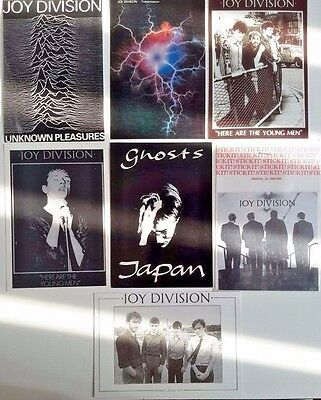 Joy Division 6 Vintage  Postcards + Sticker,FREE INTERNATIONAL SHIPPING