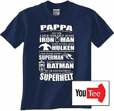 Pappa Norwegian Norway farsdags gave gift superhelt father dad daddy Besten New
