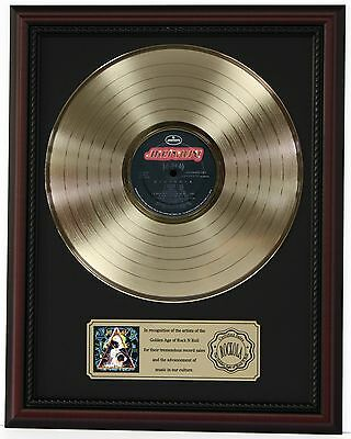 "Def Leppard Hysteria Gold Lp Record Framed Cherrywood Display ""k1"""
