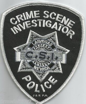 "Las Vegas - C.S.I., NV  (3.75"" x 4.5"" size)   shoulder police patch (fire)"