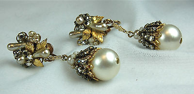 Unique Vintage Antique Victorian Revival Haskell Like Screwback Earrings