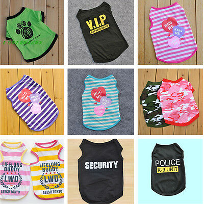 Various Pet Puppy Small Dog Cat Pet Bats Clothes Supermen Vest T Shirt Apparel