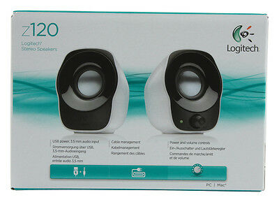 Logitech Z120 USB Compact Mini Stereo Speakers for Music Players for PC Mac
