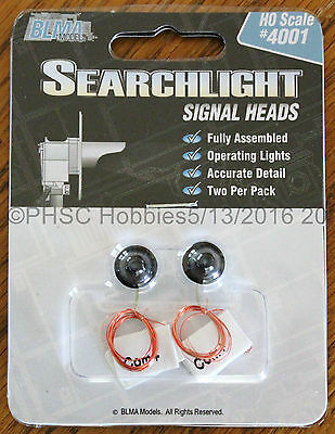 HO Scale - BLMA Models 4001 Searchlight Signal Heads - 2-Pack - Operating