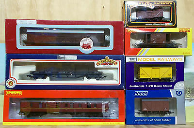 "Assorted Oo Scale Wagons X 7 - Hornby, Dapol, Bachmann, Mainline, ""as New"""