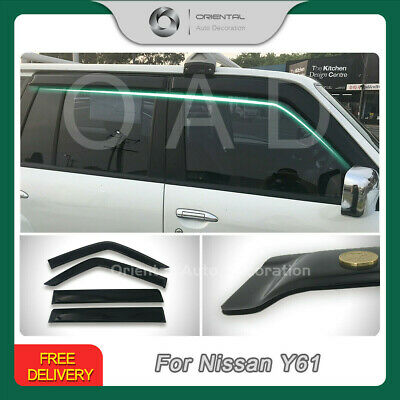 Premium Nissan Patrol Y61 GU 97-18 Weathershields Weather Shields Window Visor T