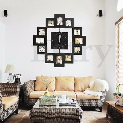 6x4'' 9 Grid Circular Collage Photo Frame Holds Pictures Wall Hanging Home Decor