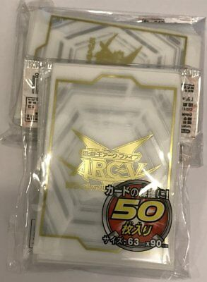 (100) Yu-Gi-Oh! Arcv Card Sleeves 100 Piece 63x90mm White